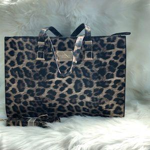 NWOT bebe Large Leopard Satchel